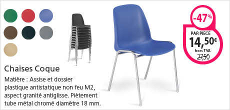 Chaises Coque