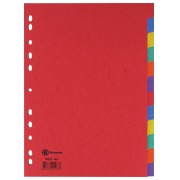 JMB set of 12 dividers, A4, glossy cardboard, colour