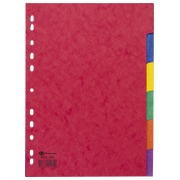 Set of coloured dividers A4 Bruneau 6 neutral tabs