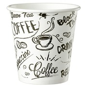 Disposable cup 'Graffiti' cardboard 10 cl - pack of 100