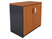 Navis, low cupboard, cherry tree-anthracite