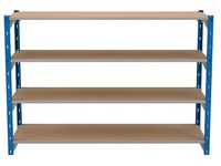 Set of 4 isorel shelves for Archiv'Pro width 150 cm