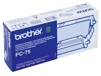 Roll for thermal transfer Brother PC75 black