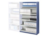 Versatile shelving, extension element, W 120 cm, with back panel
