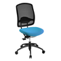 Chair Pop Art with perforated back black