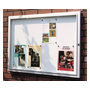 Outdoor display case, 6 sheets, bottom clear grey metallic