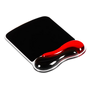 Mouse pad with ergonomic wrist support black/red