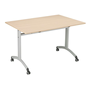 Rectangular table Practika beech W 120 x D 70 cm centered undercarriage